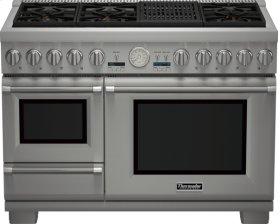48 inch Professional Series Pro Grand Commercial Depth Dual Fuel Steam Range PRD48NLSGU