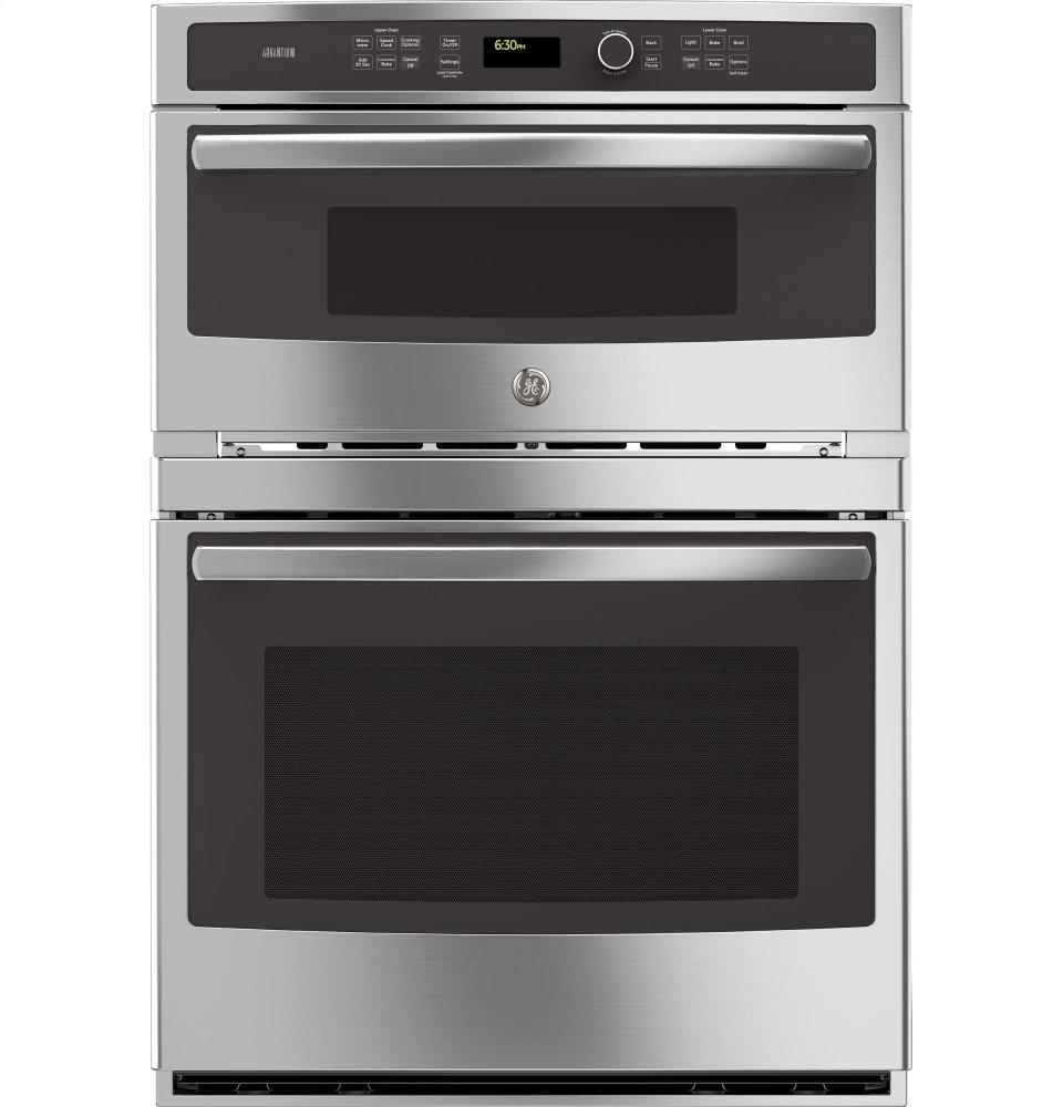 GE Profile(TM) Series 30 in. Combination Double Wall Oven with Convection and Advantium(R) Technology  STAINLESS STEEL