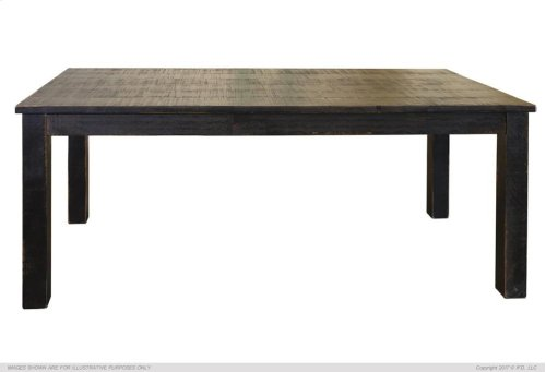 Wooden Table top & base - Black finish - KD System