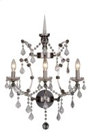 1138 Elena Collection Wall Sconce D:17in H:22in Lt:3 Raw Steel Finish Royal Cut Crystal (Clear) Product Image