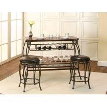 Warner-wood Veneer 3pc Pub Set