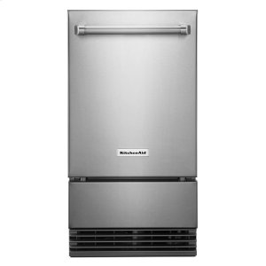 "KITCHENAIDKitchenAid(R) 18"" Outdoor Automatic Ice Maker - Stainless Steel"