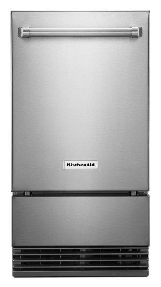 """KitchenAid(R) 18"""" Outdoor Automatic Ice Maker - Stainless Steel"""