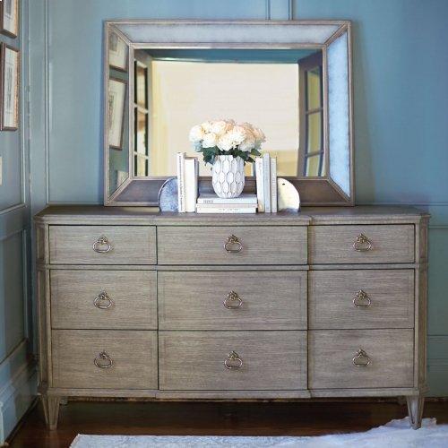 Marquesa Mirror in Marquesa Gray Cashmere (359)