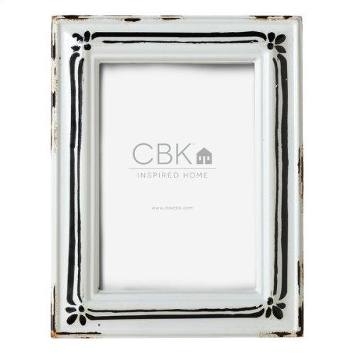 Vintage Black & White Enamel 5x7 Frame
