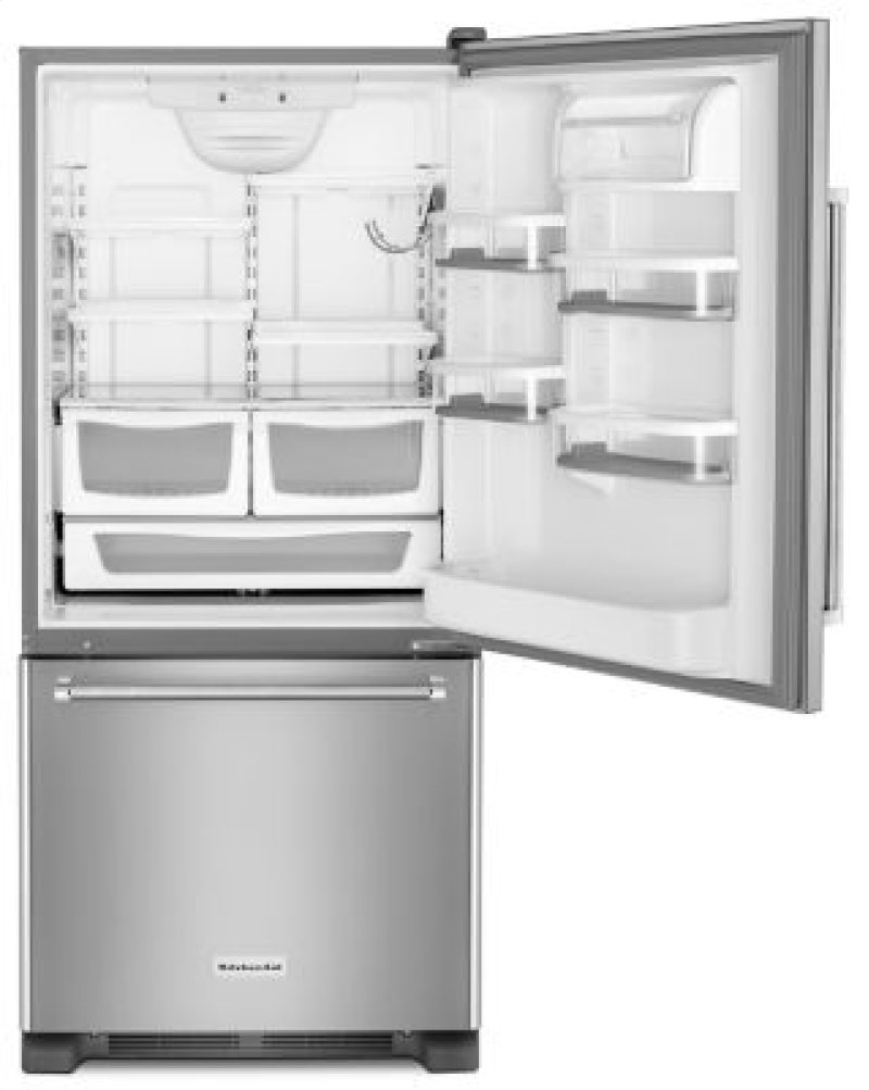 30 inch width full depth non dispense bottom mount - Non Stainless Steel Appliances