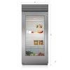 "Subzero 36"" Classic Refrigerator With Glass Door"