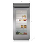 "SUB-ZERO36"" Classic Refrigerator with Glass Door"