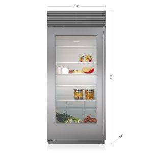 "Subzero36"" Classic Refrigerator with Glass Door"