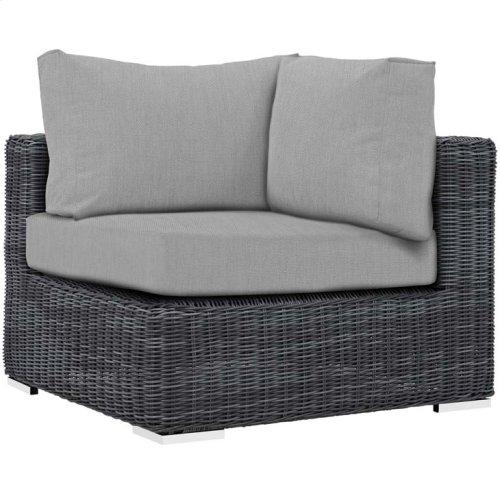 Summon Outdoor Patio Sunbrella® Corner in Canvas Gray