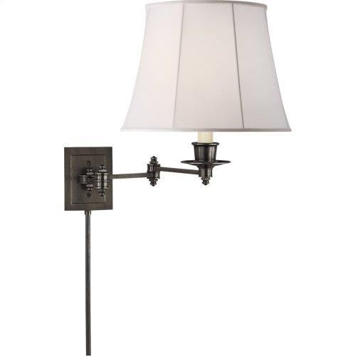 Visual Comfort S2000BZ-L Studio 19 inch 100 watt Bronze Swing-Arm Wall Light in Linen