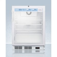 "24"" Wide ADA Height Auto Defrost Commercial All-refrigerator With Lock, Digital Thermostat, Internal Fan, and Access Port for User-provided Monitoring Equipment"