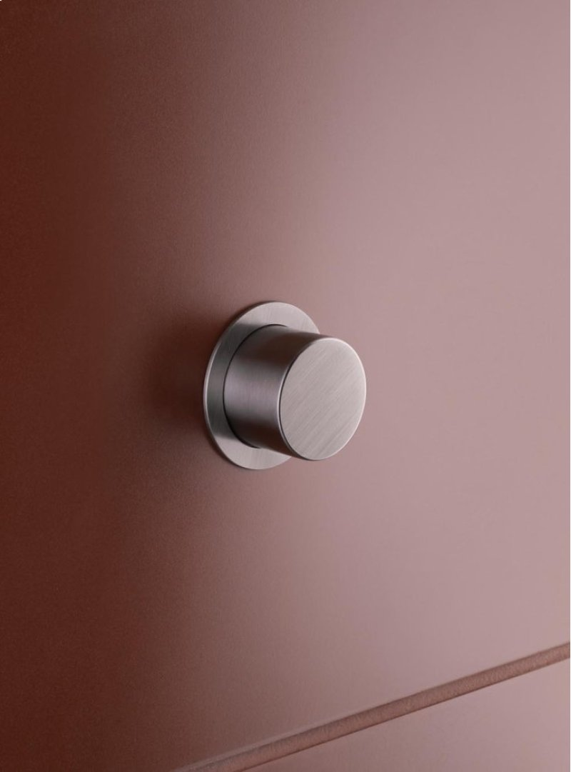 A8219 in Natural Brass by Vola in Calgary, AB - Push button for