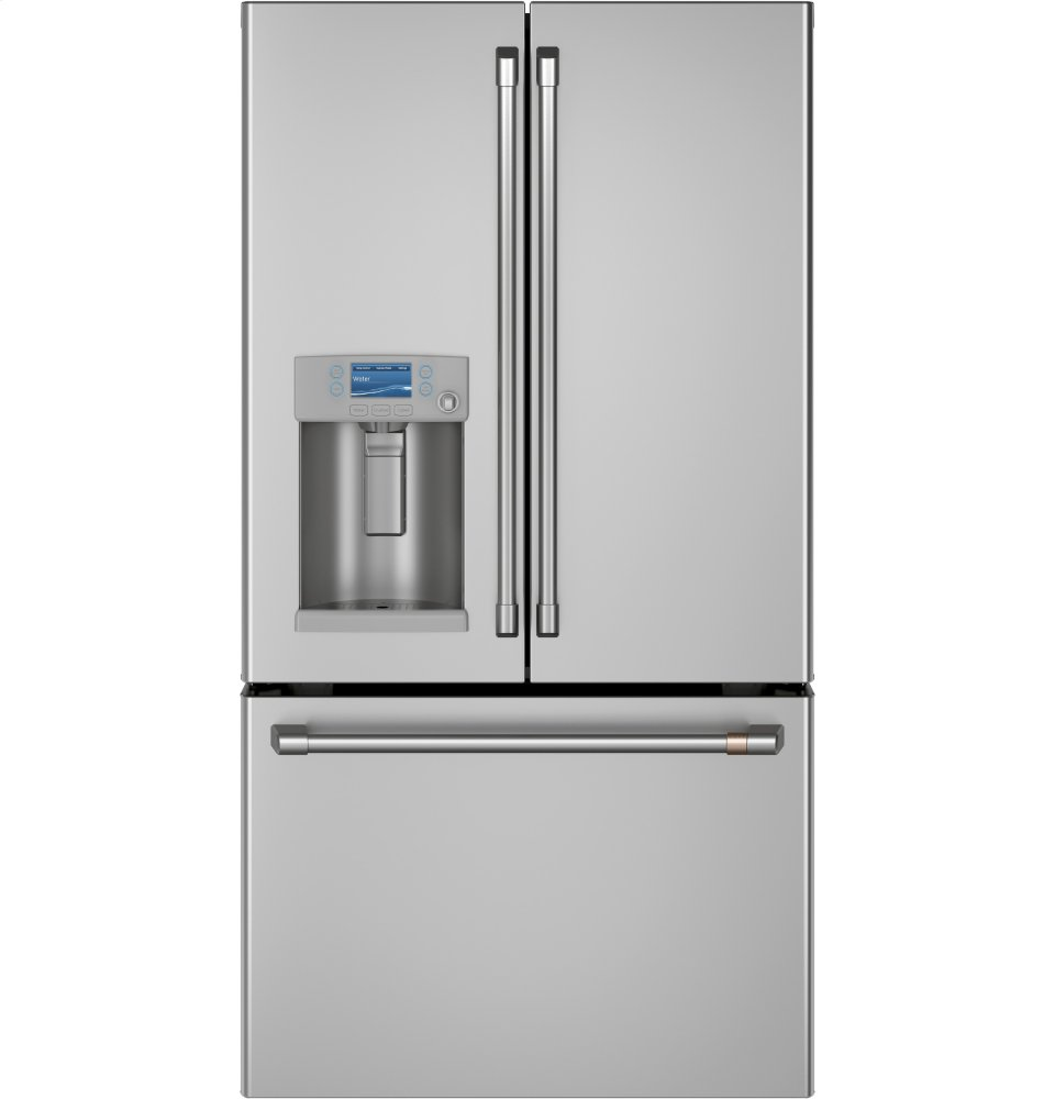 Cafe AppliancesEnergy Star &Reg; 22.2 Cu. Ft. Smart Counter-Depth French-Door Refrigerator With Hot Water Dispenser