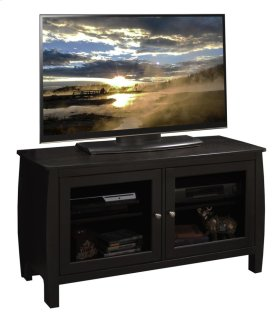 "Curve 45"" TV Cart, Mocha"
