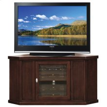 "Chocolate Cherry 46"" Corner TV Stand #86285"
