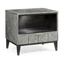 Casual Transitional Dark French Oak Bedside Cabinet