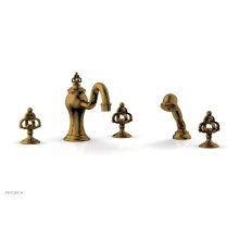 COURONNE Deck Tub Set with Hand Shower 163-48 - French Brass