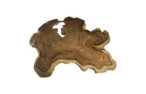 Chamcha Wood Freeform Coffee Table, Wood Leg, Oval