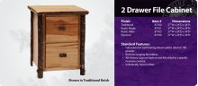 Hickory 2 Drawer File Cabinet