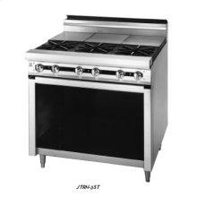 "72"" Six Open Burner, Six Hot Top Sections in Rear"