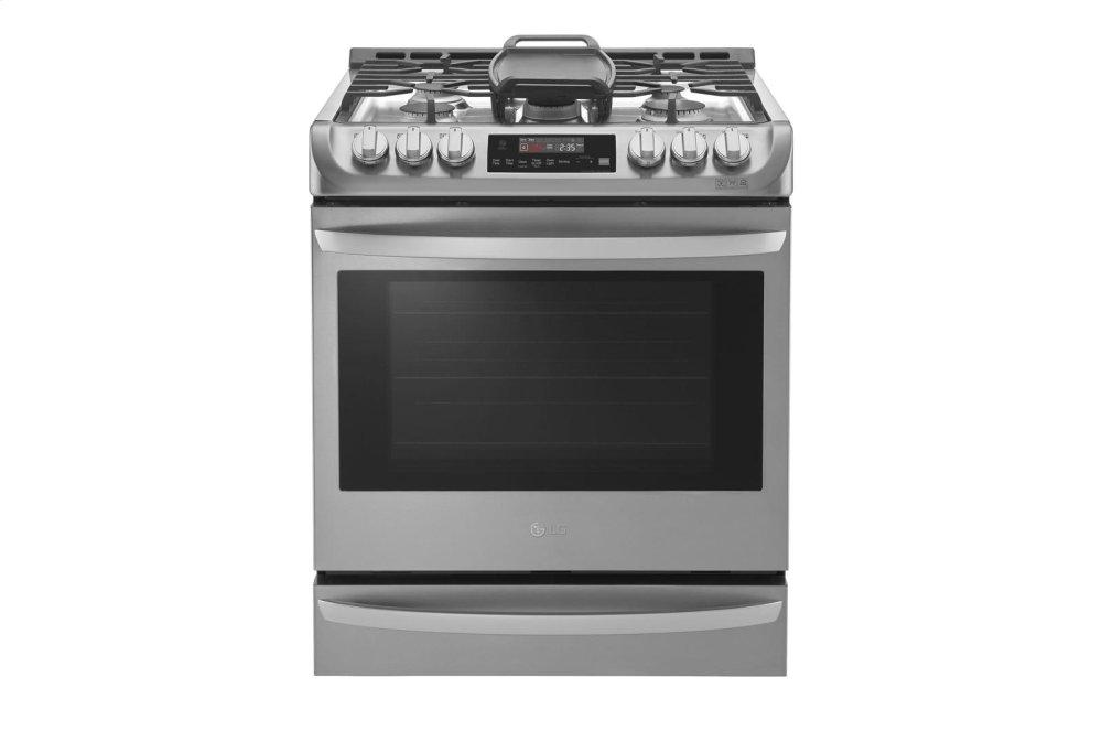 6.3 cu. ft. Smart wi-fi Enabled Gas Single Oven Slide-in Range with ProBake Convection(R)