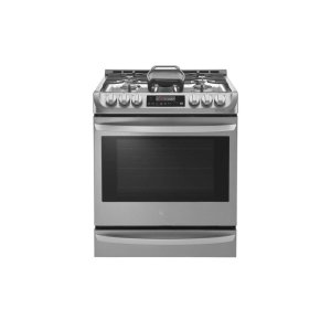 LG Appliances6.3 cu. ft. Smart wi-fi Enabled Gas Single Oven Slide-in Range with ProBake Convection(R)