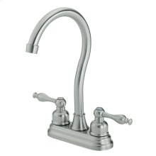 Stainless Steel Sheridan 2H Bar Faucet w/ Lever Handle 2.2gpm