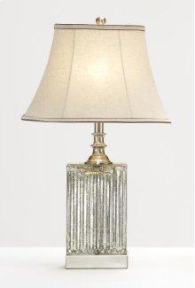 Rectangle Ridged Glass Base Lamp