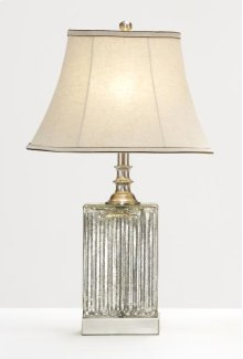 Rectangle Ridged Glass Base Lamp