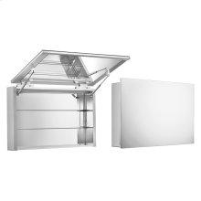 Medicinehaus single door anodized aluminum cabinet.