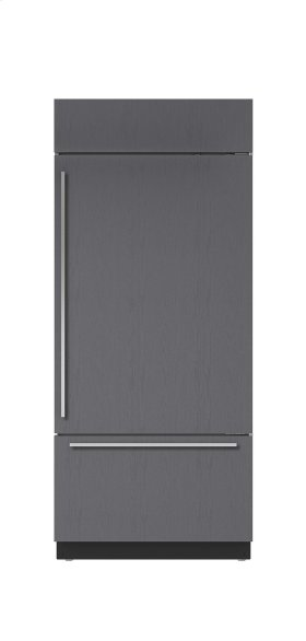 "36"" Built-In Over-and-Under Refrigerator/Freezer with Internal Dispenser - Panel Ready"