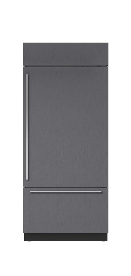 """36"""" Built-In Over-and-Under Refrigerator/Freezer with Internal Dispenser - Panel Ready"""