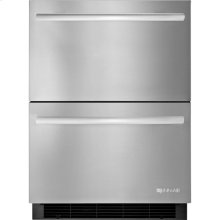 24-inch Under Counter Double-Refrigerator Drawers, Stainless Steel