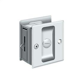 "Pocket Lock, 2 1/2""x 2 3/4"" Privacy - Polished Chrome"