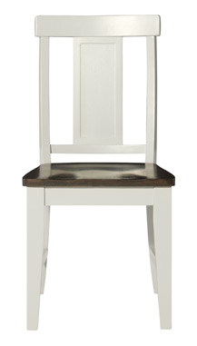 Panel Back Chair Taupe & Pewter