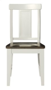 Panel Back Chair Taupe & Pewter Product Image