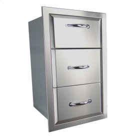 Agape Stainless Paper Towel Holder/2 Drawer Combo - ATHC1