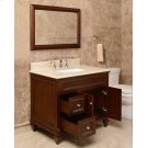 White PRESLEY 36-in Single-Basin Vanity Cabinet with Carrara Marble Stone Top and Muse 18x12 Sink Product Image