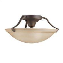 3 Light Semi Flush Ceiling Light OZ