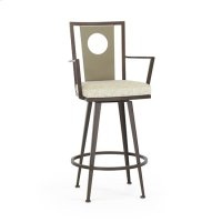 Luca Swivel Arm Stool, Juno Product Image