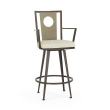 Luca Swivel Arm Stool, Juno