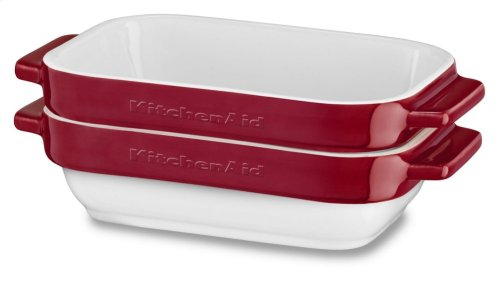 Ceramic 2-Piece Stacking Mini Baker Set - Empire Red