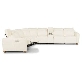 Astra Leather Sectional with Power Headrests