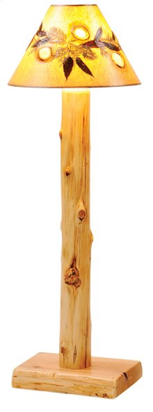 Floor Lamp Without Lamp Shade, Natural Cedar