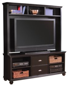 """Casual Traditional 67"""" Console and Hutch with Door"""