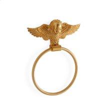 Antique Gold Cherub Towel Ring