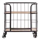 Industrial Wood & Metal Trolley Bar Cart Product Image
