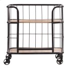 Industrial Wood & Metal Trolley Bar Cart Product Image