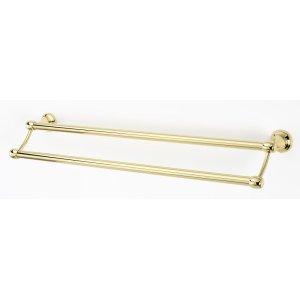 Royale Double Towel Bar A6625-24 - Polished Brass